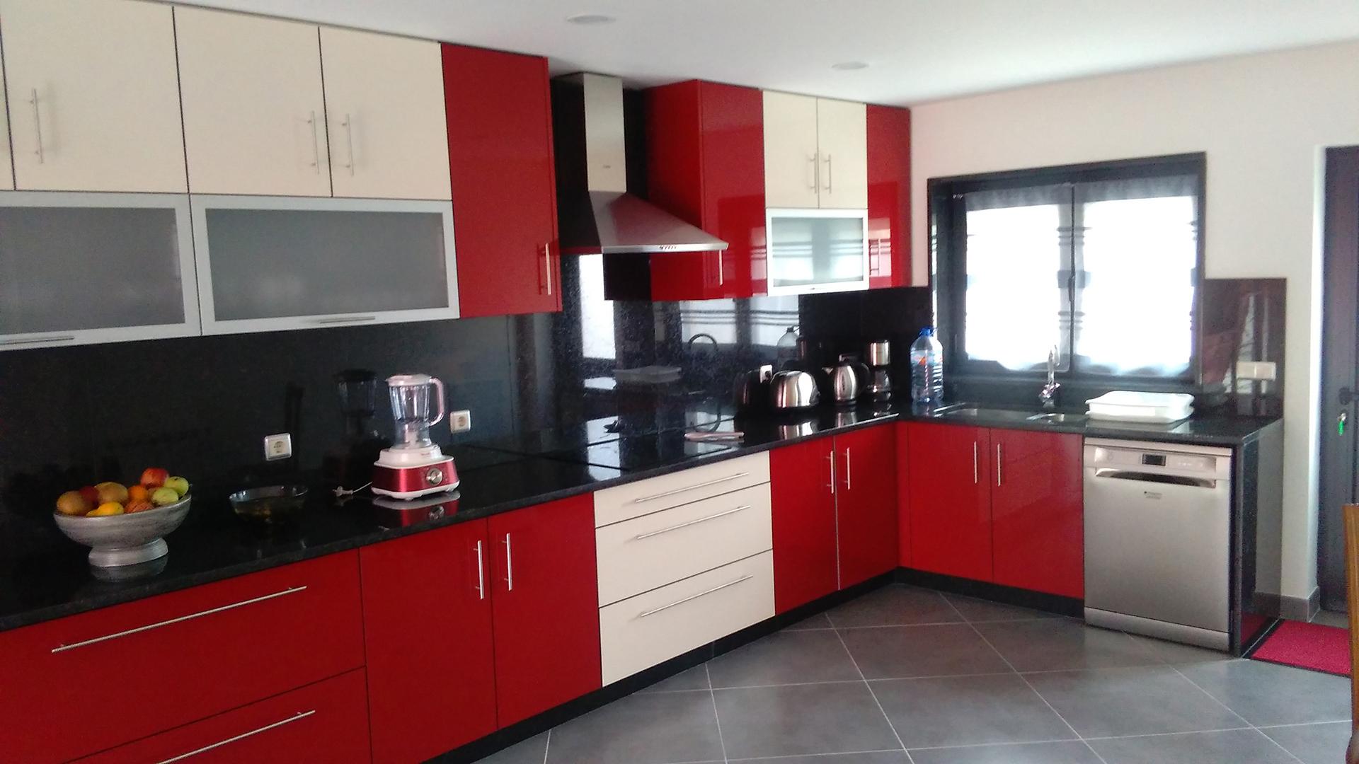 Portef Lio Jopimar 3 ~ Cozinha Cinza Com Vermelho